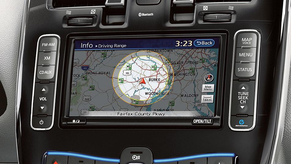nissan leaf navigation maps