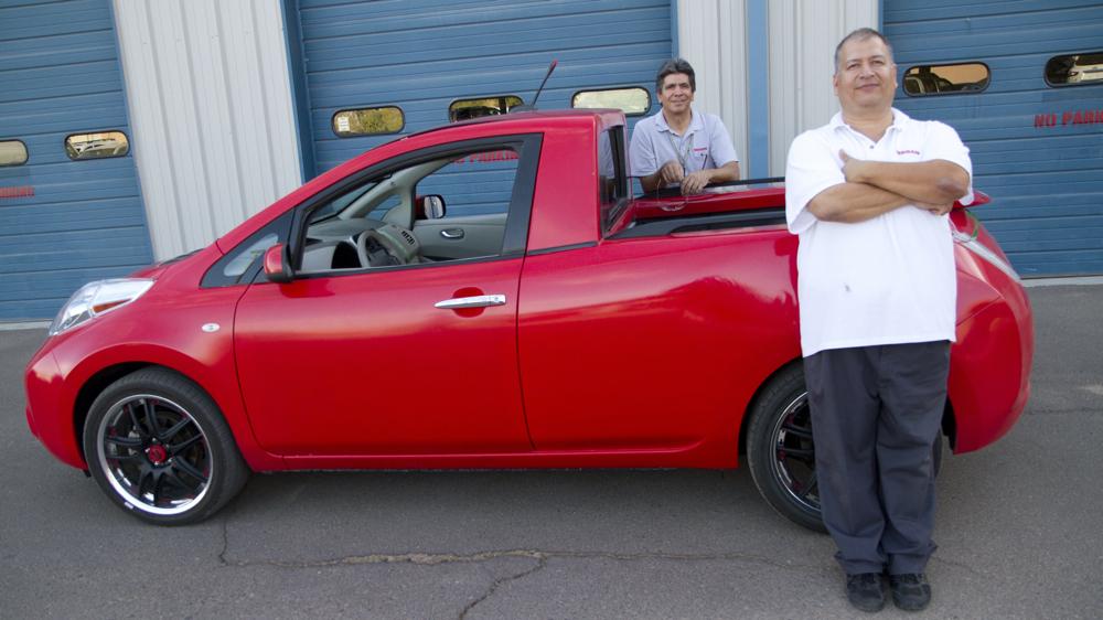 Engenheiros da Nissan casam LEAF com Frontier para uso em campo
