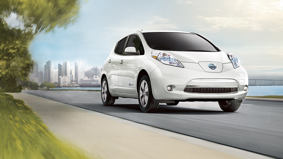 2015 Nissan Leaf front exterior Raleigh