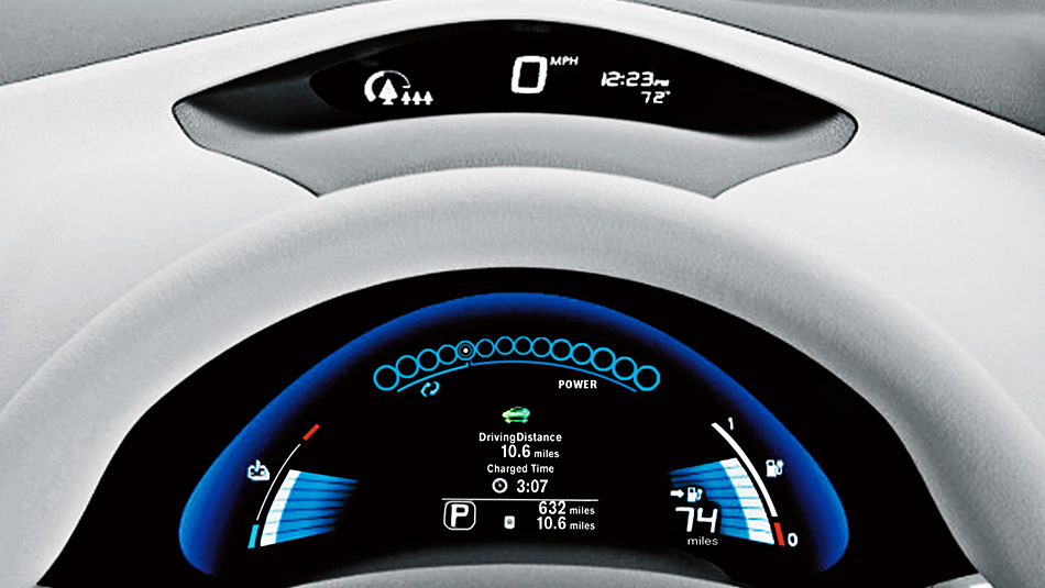 2015 Nissan Leaf instrument panel Raleigh